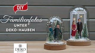 DIY-Weihnachtsdeko mit Familienfotos unter Dekohauben [How to] Deko Kitchen (P)