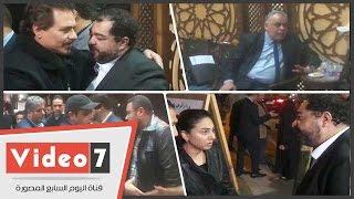 نجوم الفن فى عزاء السيناريست عبد الله حسن ووالدة طارق عبد العزيز