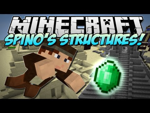 Minecraft   SPINO'S STRUCTURES! (20+ New Structures!)   Mod Showcase [1.5.1]