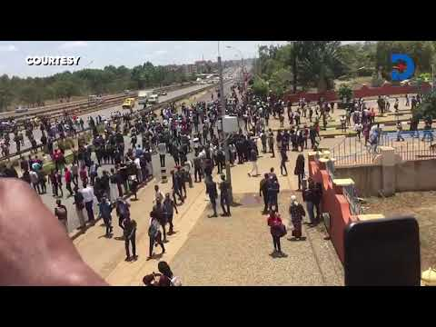 BREAKING: Kenyatta University students hold protests over unaddressed grievances