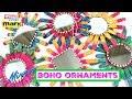 Boho Mirror Ornaments DIY