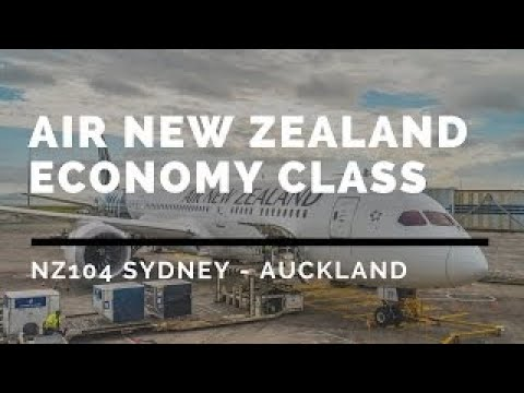 Air New Zealand NZ104 Sydney - Auckland with Koru and SilverKris Lounge flight report ニ