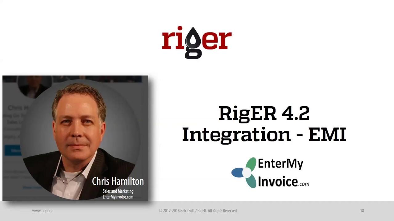 RigERCortex Integration Enter My Invoice Solution Presentation - Openinvoice an oildex solution