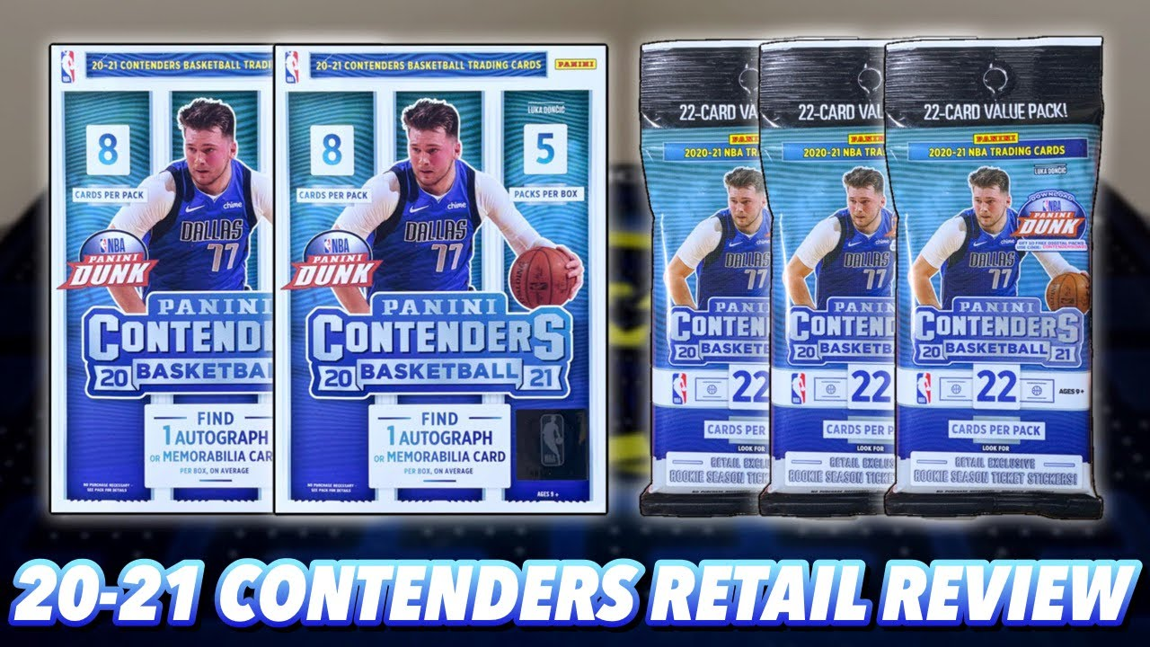 2020-21 Panini Contenders Basketball Retail Blaster Box & Value Fat Pack Break/Review