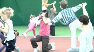Малышок.Теннис с 3-х летками