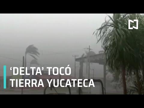 Huracán 'Delta' toca tierra en Yucatán - Expreso de la Mañana