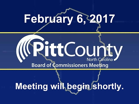 Pitt County Commissioners meeting for 2/6/2017