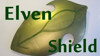 Make a curved Elven Shield from Lord of the Rings