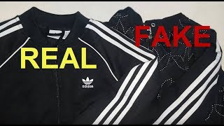 Real vs. Fake Adidas zip up jacket. How to spot original Adidas superstar hoodies.