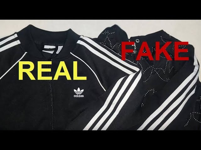 antiguo Dar permiso India  Real vs. Fake Adidas zip up jacket. How to spot original Adidas superstar  hoodies. - YouTube