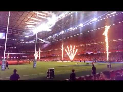 Pre Match Fun in Cardiff for Wales v Ireland Rugby, Millennium Stadium (8.8.15)