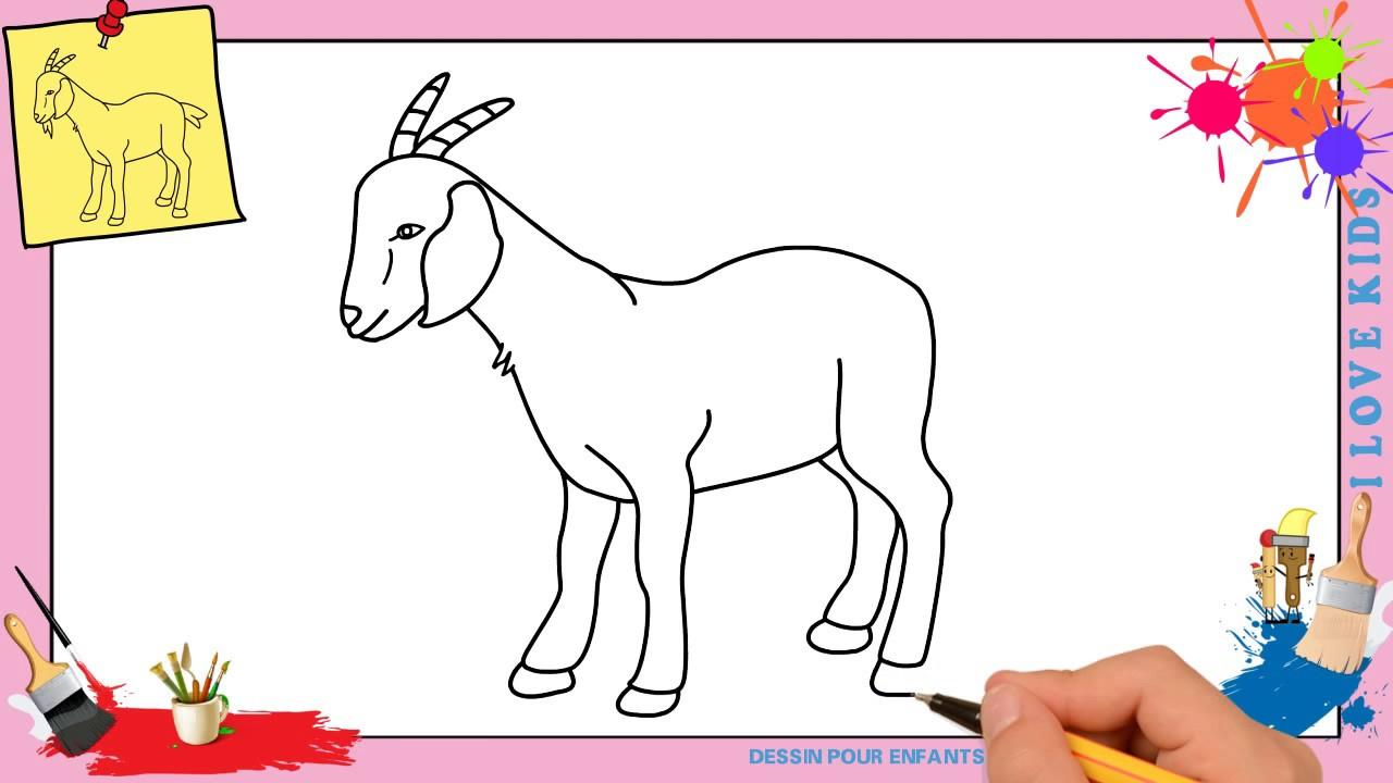 Comment Dessiner Une Chèvre 2 Facilement Etape Par Etape Youtube