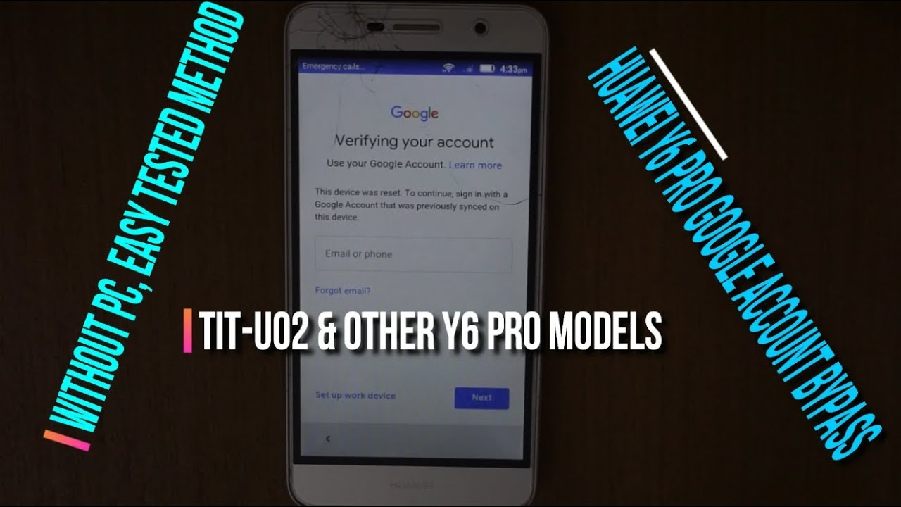huawei Y6 Pro TIT-U02 Bypass Frp google account latest security