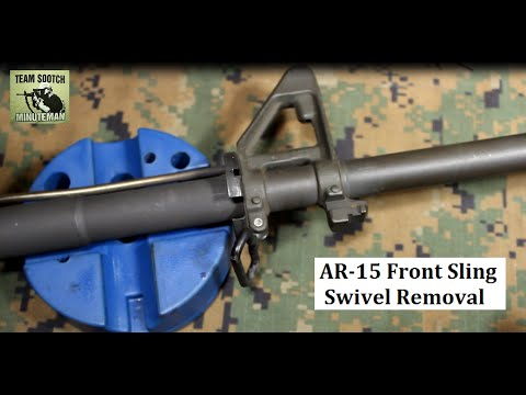 AR-15 Front Sling Swivel Removal