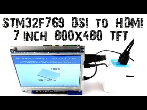 STM32F769 Discovery DSI to HDMI Adapter 7 inch Display 800x480 B