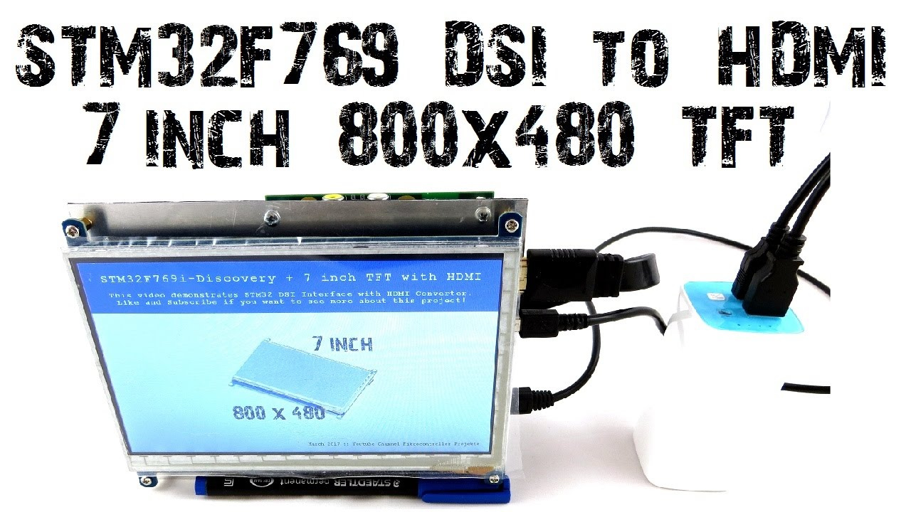 STM32F769 Discovery DSI to HDMI Adapter 7 inch Display 800x480 B-LCDAD-HDMI1