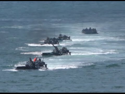 Chinese PLA Marines Conduct Live-fire Drills