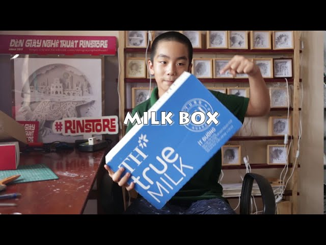 How to make 3D Paper cut Lightbox with Recycle Box – KID make DIY