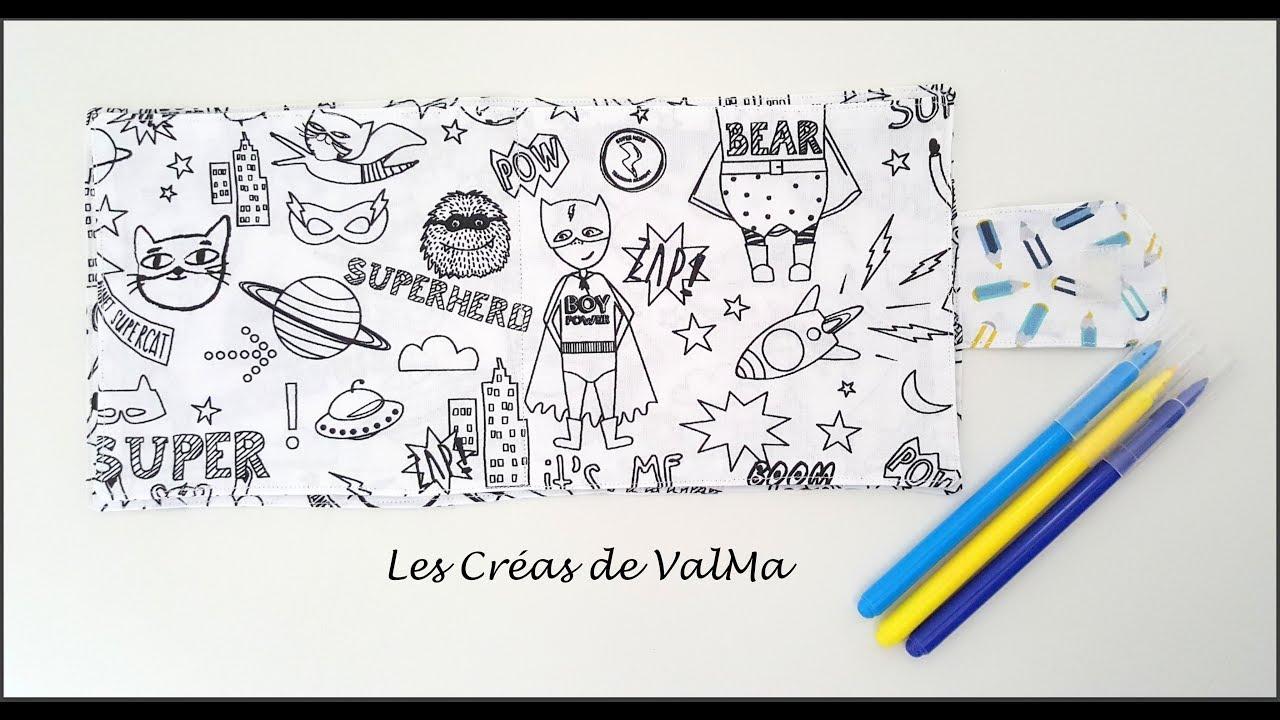 Cahier En Tissu A Colorier Livre De Coloriage En Tissu Pour Enfants Tuto Couture Valma
