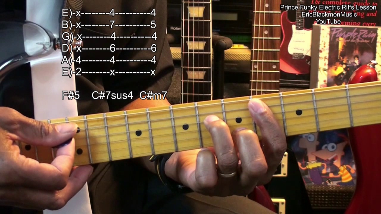 prince inspired electric guitar riff 2 lesson let 39 s go crazy ericblackmonmusichd youtube. Black Bedroom Furniture Sets. Home Design Ideas