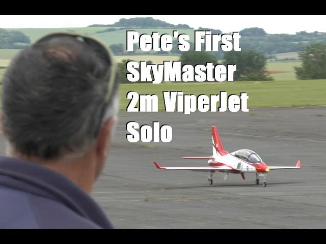 Pete's First Skymaster Viper Jet Solo