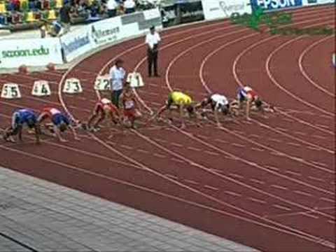 Martas Skrabulis 100m PB 10.81s EAJ Championships 2007