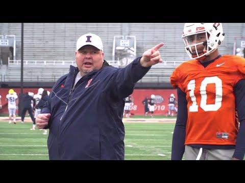 Illinois OC/QB Coach Rod Smith Mic'd Up