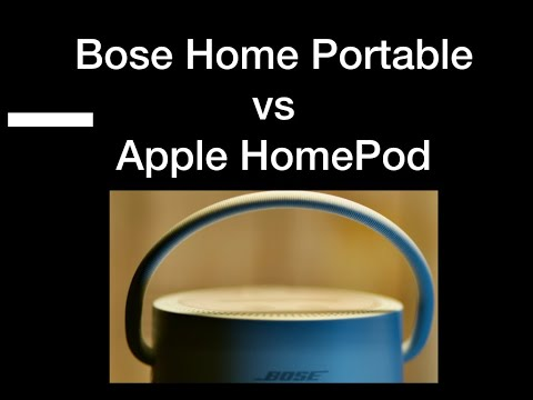 Bose Home Portable Speaker VS Apple HomePod, Open Boxing/Review/Comparison  and the winner is.....