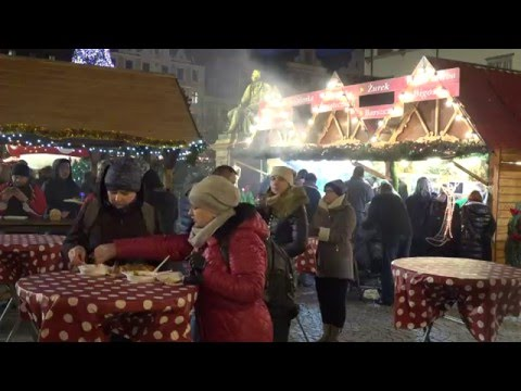 CHRISTMAS MARKET  2015 in Wroclaw, Poland in 4k, part 3