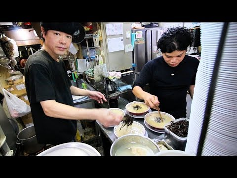 Japan's Top Secret Ramen Shop! JAPANESE STREET FOOD in Fukuoka, Japan (Blue Bucket Ramen)