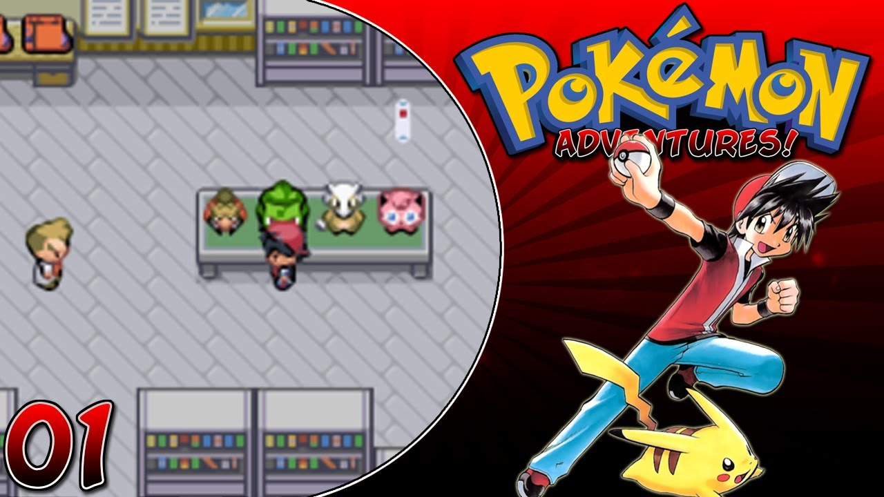 Pokemon adventures red chapter part 1 beta 13 rom hack gameplay.