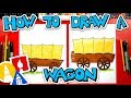 How To Draw A Pioneer Wagon
