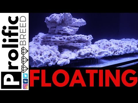 HOW TO FLOAT REEF TANK AQUASCAPING ROCKS FOR RED SEA REEFER 350