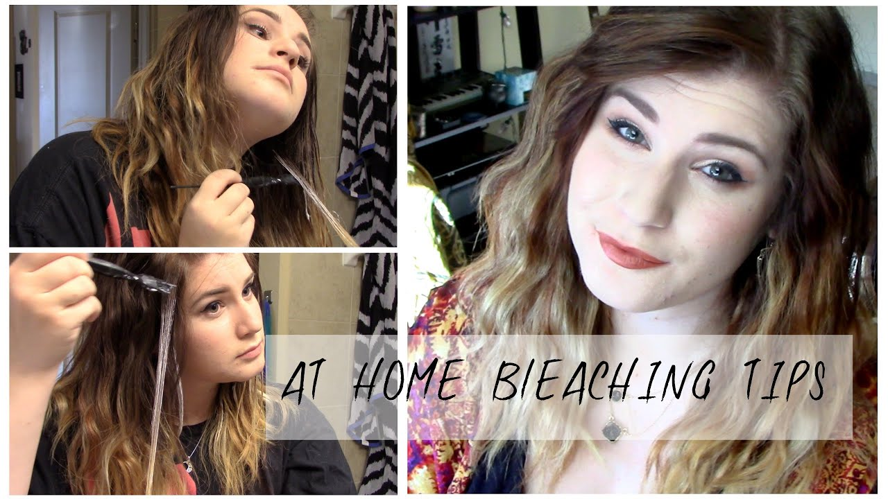TIPS && TRICKS FOR DIY AT HOME HAIR BLEACHING - YouTube
