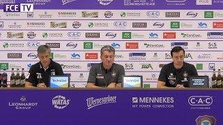 Pressekonferenz nach dem Spiel Aue -Magdeburg 0:0