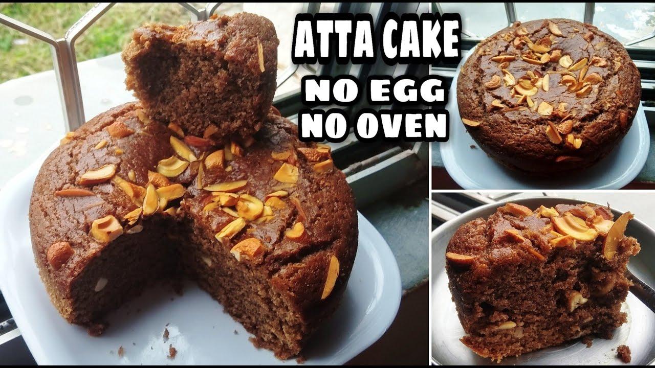 गेहूं के आटे से,बिना ओवन,बिना अंडा एकदम soft और spongy केक बनाने का सबसे आसान तरीका l eggless cake