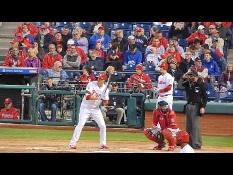 Phillies Michael Saunders RBI Hit 4/8/17 HD