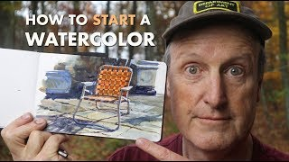 How to Start a Watercolor
