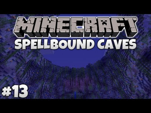 Burning Mobs To Death! || Minecraft - Spellbound Caves #13 (Vechs Super Hostile)