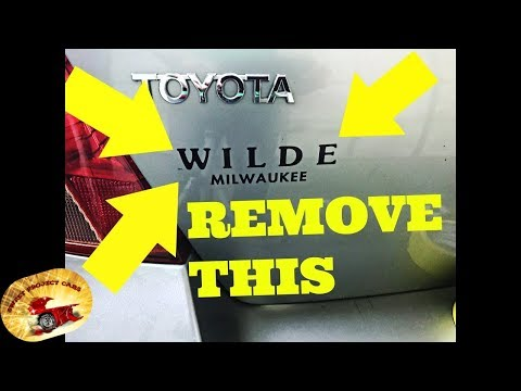 How To Remove Dealer Stickers Without Heat AMAZING!!