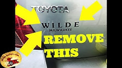 How To Remove Dealer Stickers With or Without Heat AMAZING!!