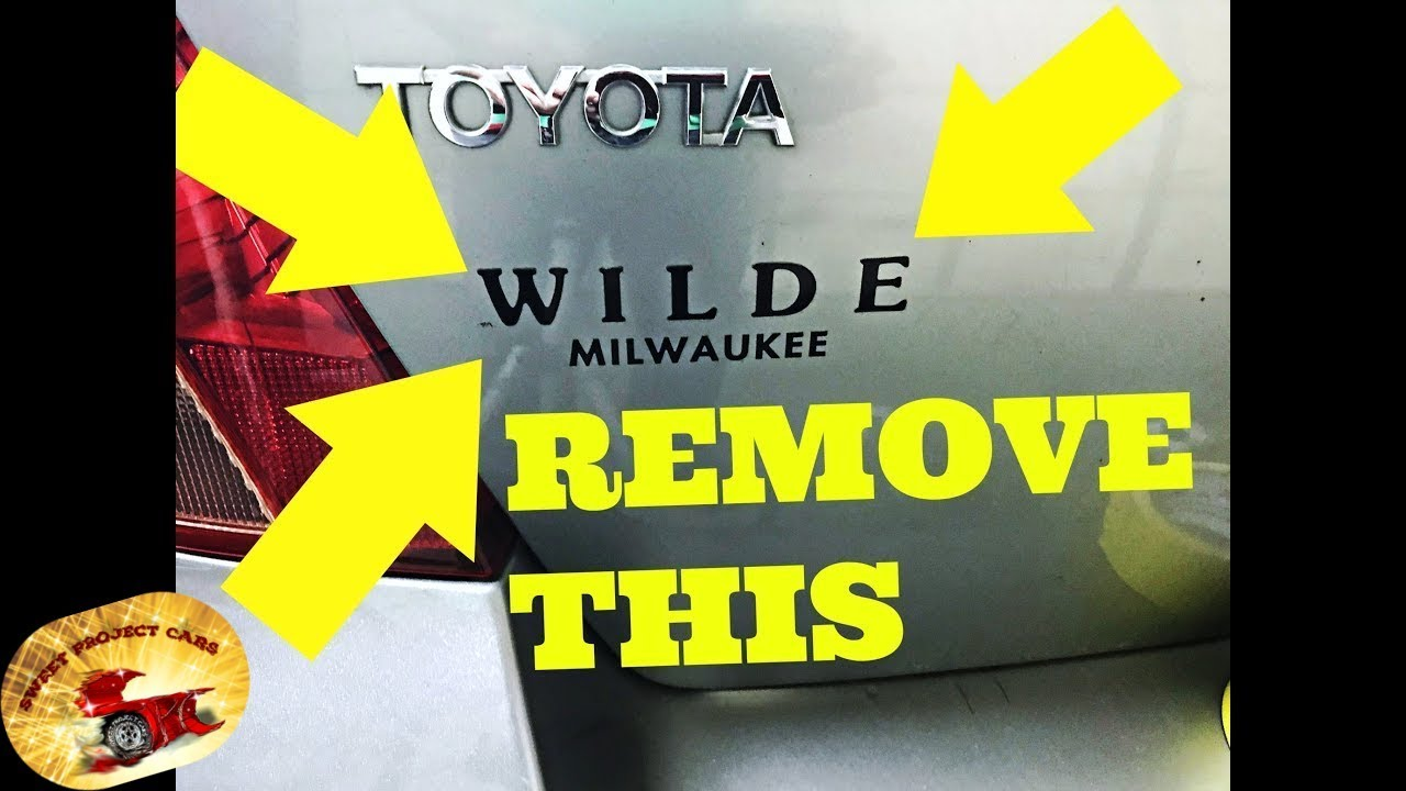 How To Remove Dealer Stickers With Or Without Heat Amazing