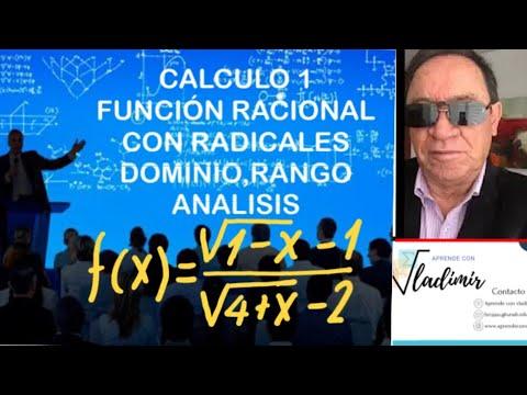 FUNCION RACIONAL CON RADICALES DOMINIO RANGO