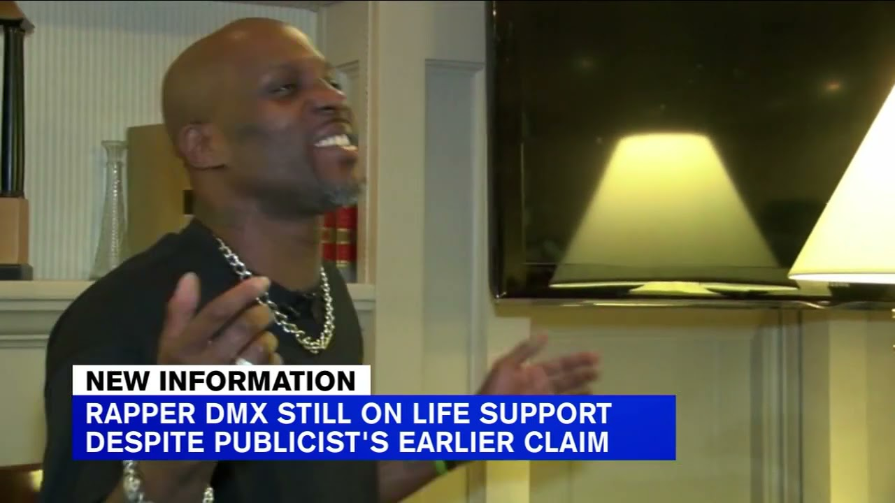 Rapper DMX remains on life support