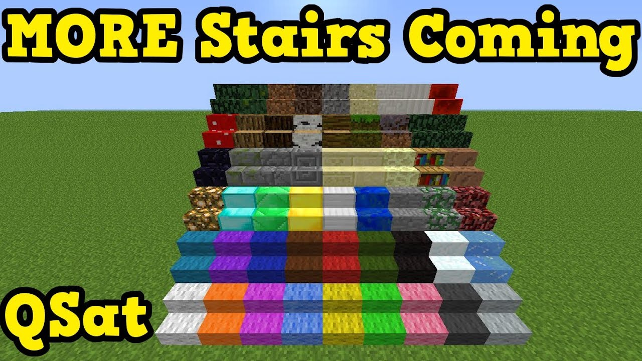 Minecraft 1 14 New Stairs Are Coming Cave Update Youtube
