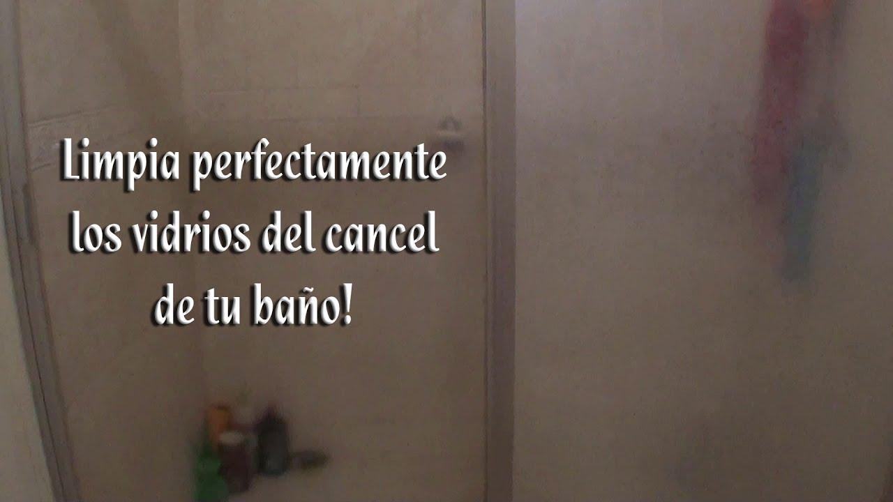 Como limpiar una mampara muy sucia affordable awesome - Como limpiar la mampara de la ducha ...