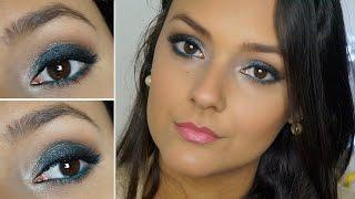 Maquiagem Azul - Por Jéssica Freitas