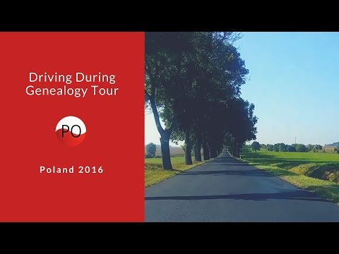 Driving during Genealogy Tour in Poland