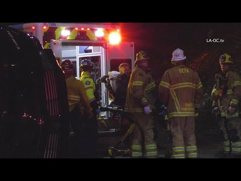 Will Ferrell loaded into ambulance after accident on California highway