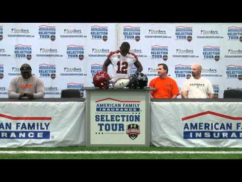Johnathan Gray Receives His 2012 Under Armour All-America Jersey